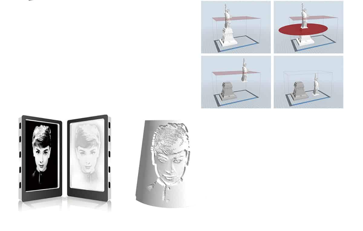 Flashforge Inventor Ⅱ cut and split