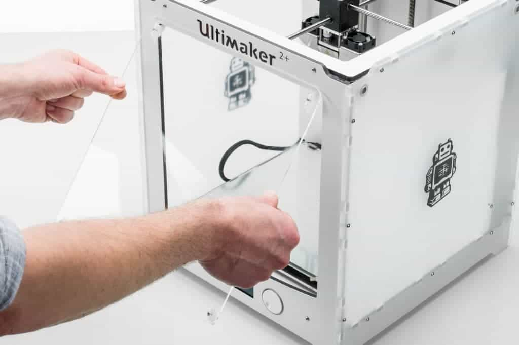 How to install front cover advanced 3D printing kit Ultimaker 2+ top