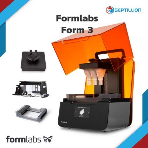 เครื่องพิมพ์ 3 มิติ Formlabs Form 3 เปิดฝา พร้อมชิ้นงาน และ Finish Kit