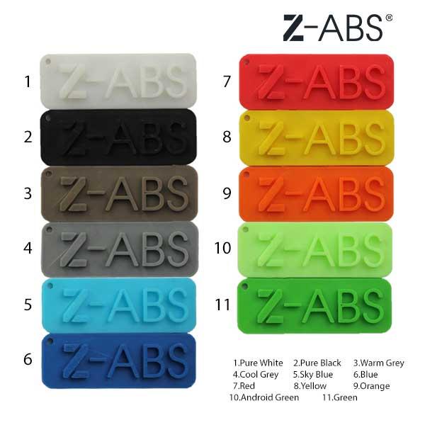 ชารต์สี เส้นพลาสติก Z-ABS จาก Zortrax