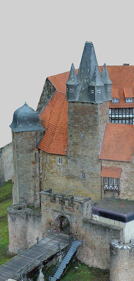 Architecture Drone 3D Scan Castle
