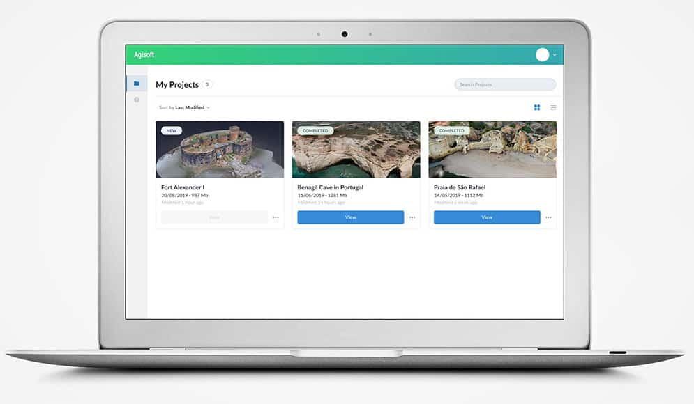 Agisoft Software on Apple Macbook screen