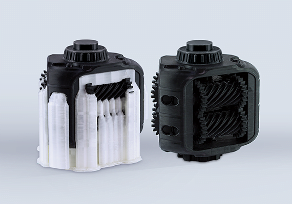 Movable Gearbox Prototype 3D Print Sample with Z-SUPPORT Material
