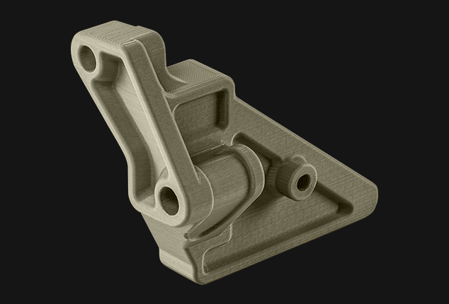 A bracket designed for a CubeSat, highly resistant to radiation.