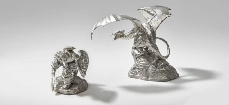 HOW TO MAKE METAL MINIATURES WITH 3D PRINTED PEWTER CASTING MOLDS