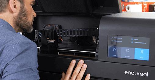 Zortrax Endureal 3D Printer Inside Machine